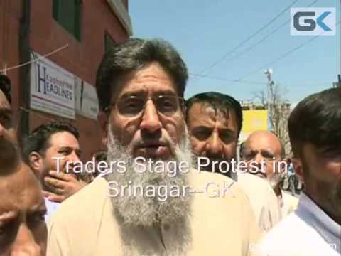 Traders Stage Protest in Srinagar