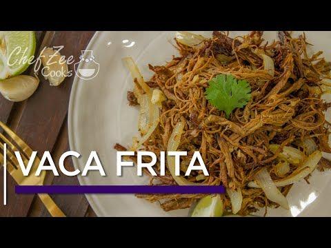 Vaca Frita   Fried Shredded Beef   Cuban Recipes   Chef Zee Cooks