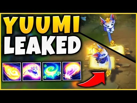 NEW SUPPORT CHAMPION YUUMI LEAKED!!! ABILITIES REVEALED, IN-GAME SCREENSHOTS!  - League of Legends