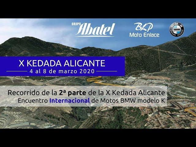 Alcoi. 2ª Parte de la X Kedada Alicante 2020. Encuentro Internacional Motos BMW modelo K.