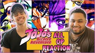 JOJO'S BIZARRE ADVENTURE OPENINGS 1 - 9.5 (All Openings!) Anime Reaction
