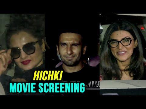 Ranveer Singh, Rekha, Sushmita Sen, Madhuri Dixit Support Rani Mukherji's Hitchki | Movie Screening