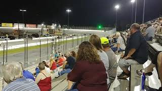 September 22nd spectator drags at New Smyrna Speedway. Mustang GT 350R totaled!