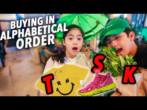 Buying EVERYTHING In Alphabetical Order!! | Ranz and Niana