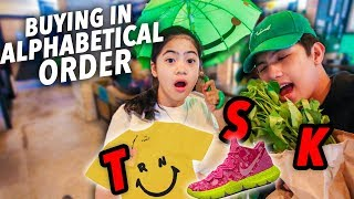 Buying EVERYTHING In Alphabetical Order!!   Ranz and Niana