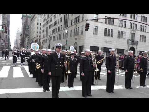St. Patrick's Day Parade~NYC~2015~US Navy Marching Band~NYCParadelife.com