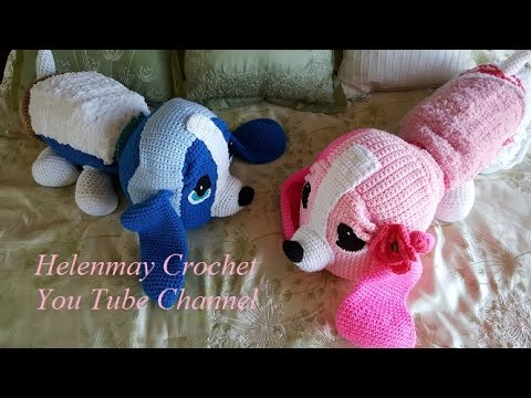 Crochet Hound Dog Pillow DIY Tutorial