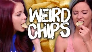 4 WEIRD Chip Flavors! (Cheat Day)