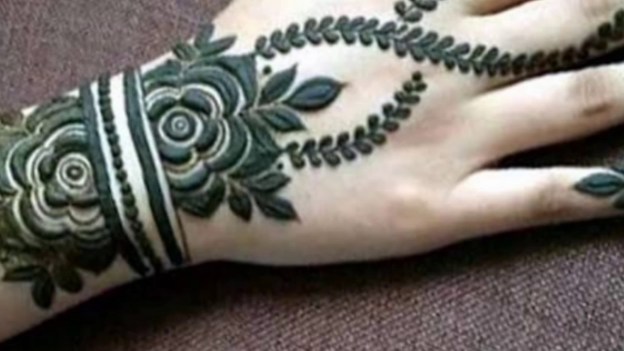 Mehndi Tatoo Wali : Simple henna mehndi designtattoo youtube