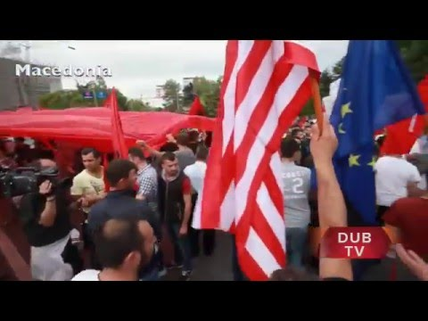 MACEDONIA protest : Ethnic Albanians demand rule of law