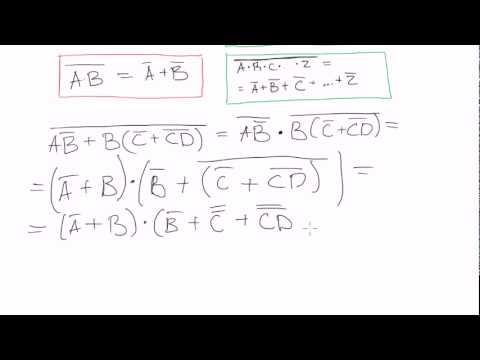 De morgans theorem