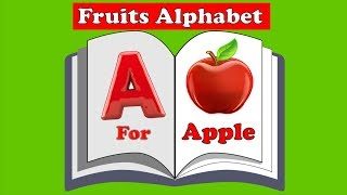 FRUIT ALPHABET BOOK | LEARN A TO Z ALPHABET WITH FRUITS FOR KIDS TODDLERS BABIES | ANIMATION ZONE