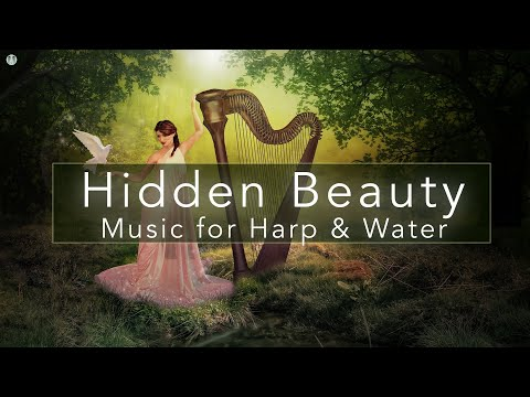 Relaxing Harp Music with water sounds 💦 1 hour relaxing harp music