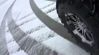 зимний дрифт по заливу на квадроциклах CFMOTO (drifting sport)