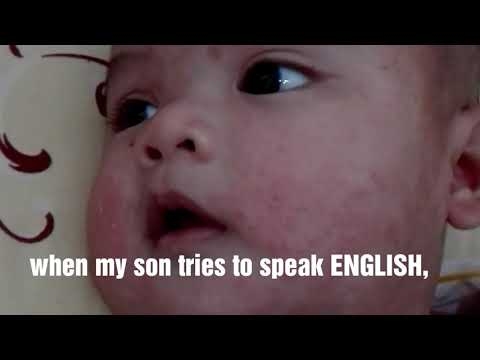 When an indonesian baby tries to respond English