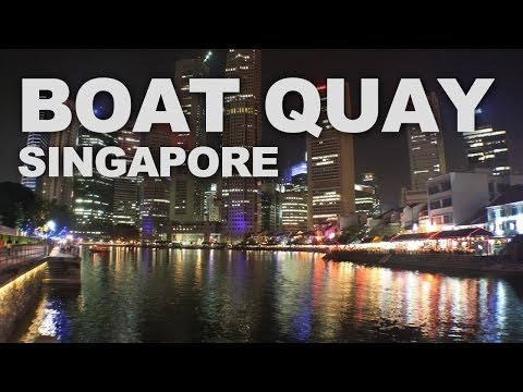 The Historical Boat Quay in Singapore