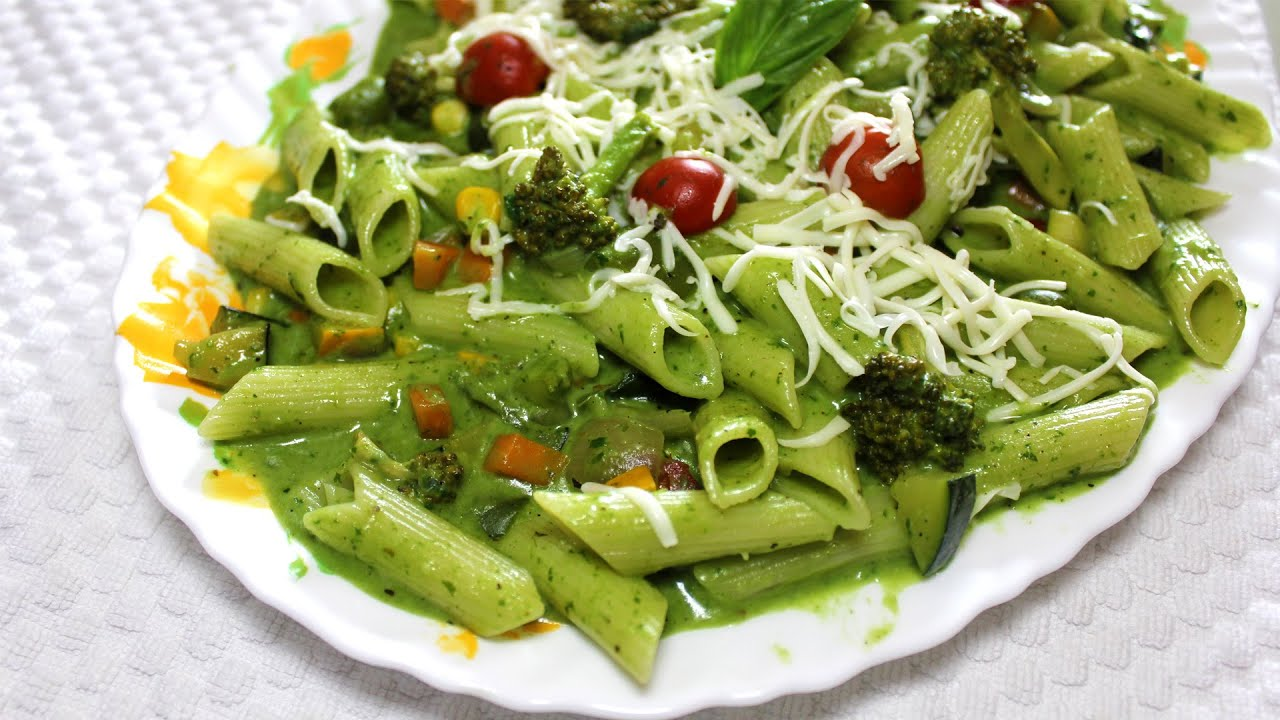 Healthy spinach pasta with exotic vegetables quick easy pasta healthy spinach pasta with exotic vegetables quick easy pasta recipe green pasta youtube forumfinder Gallery