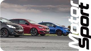 Drag race : 308 GTi / Civic Type-R / 208 GTi BPS