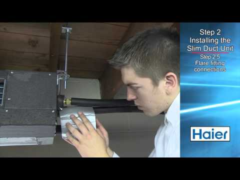 Haier Slim Duct Installation Video