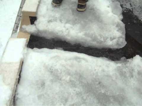 Ice Dams On Flat Roof Youtube
