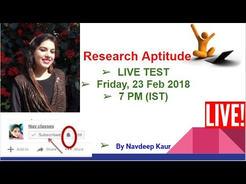 Research Aptitude Expected Questions live Test July 2018  CBSE UGC NET