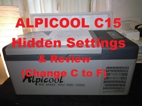 Alpicool c15 12v Compressor Fridge/Freezer Review - Hidden Settings (change  C to F) PLEASE SUBSCRIBE