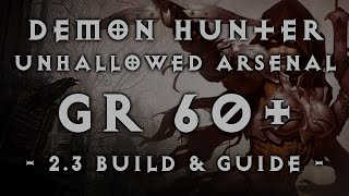 "Diablo 3 | Demon Hunter GR 60+ ""Unhallowed Arsenal"" Fire Multishot Build (2.3)"