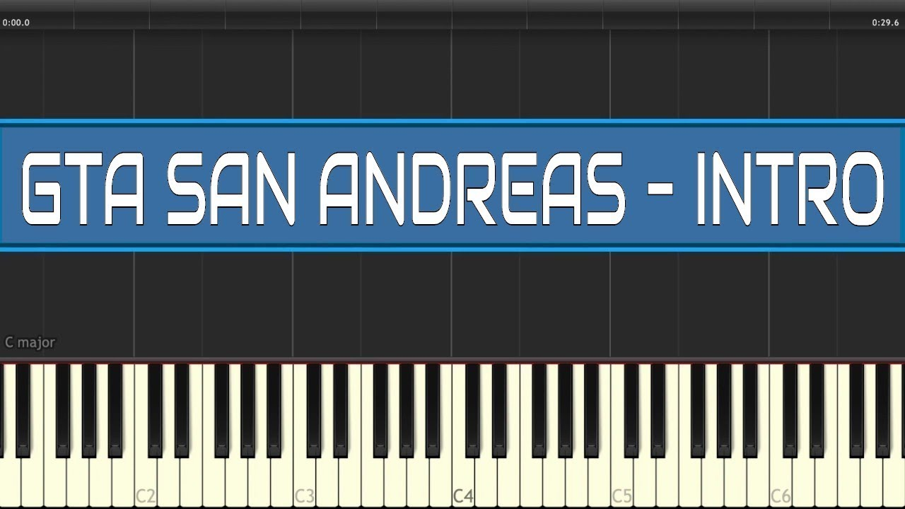 GTA San Andreas Intro Piano Tutorial | Grand Theft Auto SA Theme Song Piano how to play Easy