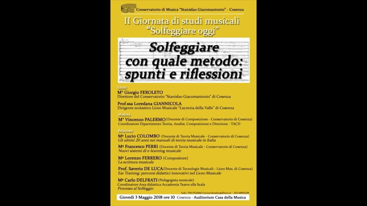 """Conservatorio di Musica """"S. Giacomantonio"""" - Solfeggiare ..."""