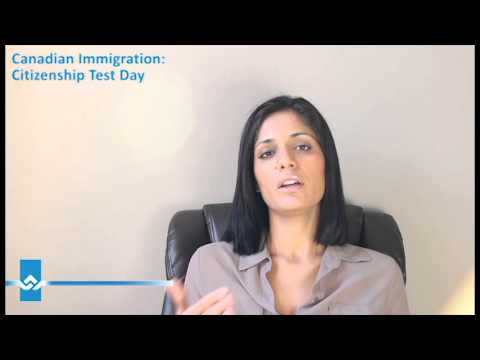 Canadian ImmigrationCitizenship Test Day