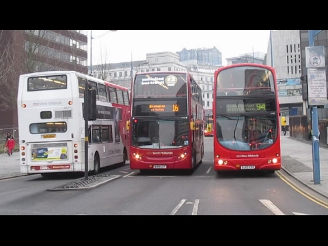 Buses Trains & Trams in Birmingham February 2017