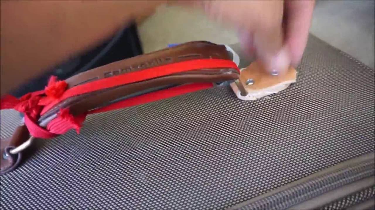 Luggage Repair: Fix a Suitcase Handle - Samsonite (in this case ...