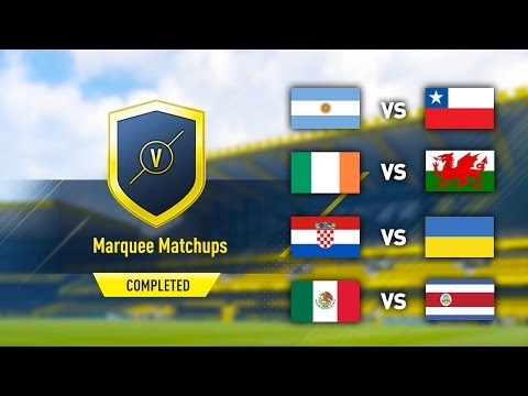 INTERNATIONAL MARQUEE MATCHUPS! IRELAND V WALES! (COMPLETED/EASY) FIFA 17 ULTIMATE TEAM