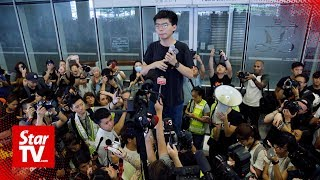 Freed Hong Kong democracy activist joins mass calls for leader to quit