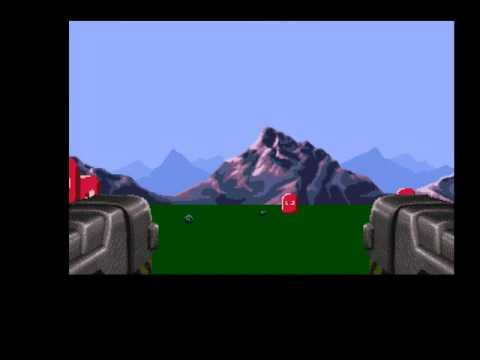 Simple AGA first person tech demo (Amiga, Blitz Basic)