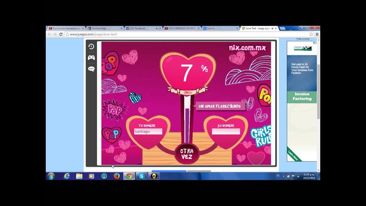 Video Love Test Juego Ramdon Amor Compasivo Con Youtube Y Facebook