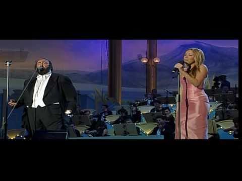 Luciano Pavarotti, Mariah Carey  Hero  HD