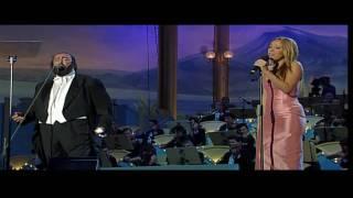 Luciano Pavarotti, Mariah Carey - Hero (LIVE) HD