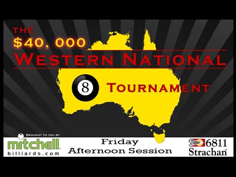 Mitchell Billiards Western National 8 Ball Tournament Friday Afternoon Session