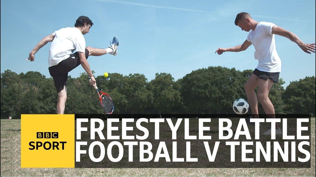 Tennis v Football Freestyle battle – Wimbledon 2018 – BBC Sport