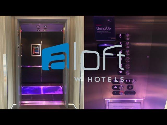 Blacklight! OTIS Traction Elevators-Aloft Hotel SF Airport-Millbrae, CA