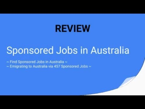 Sponsored Jobs in Australia Review