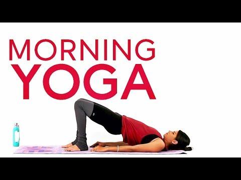 morning yoga stretch  easy yoga flow 5 minutes