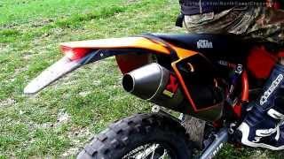 KTM EXC 450 Akrapovic titan with/without dB-Killer [HD] thumbnail