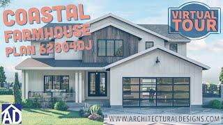 Architectural Designs Coastal Modern Farmhouse Plan #62804dj Virtual Tour