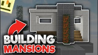 Building a MANSION in Hypixel Skywars! [ft. Hypixel Shorts]