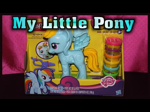 Play Doh Rainbow Dash My Little Pony Style Salon Playset Review