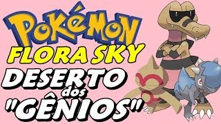 Pokémon Flora Sky (Detonado - Parte 10) Atravessando O Deserto da Rota J