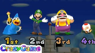 Mario Party 9 Goomba Bowling - Kamek vs Luigi vs Wario vs Toad Co-op 4 Player Gameplay