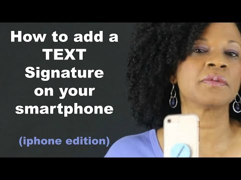 How To Create A Signature For Text Message
